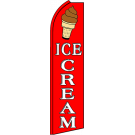 Ice Cream Swooper Flag red