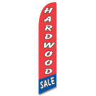 Hardwood Sale feather flag red