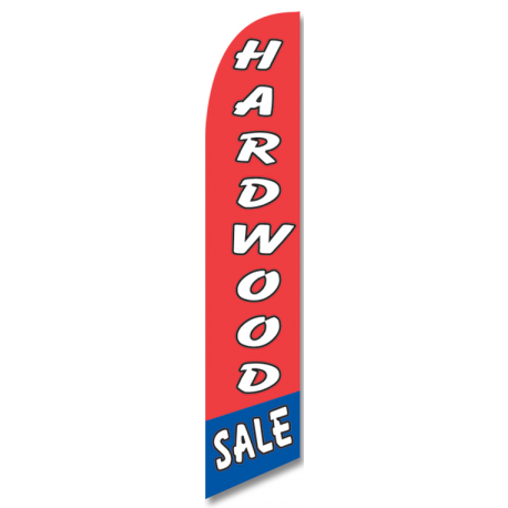 Hardwood Sale Feather Flag Red 12ft Poly Knit width=