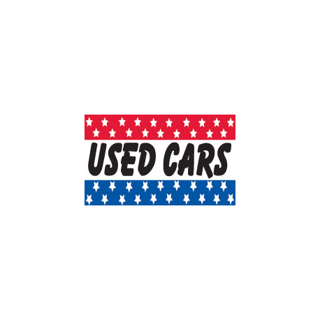 Used Cars Flag 3x5 width=