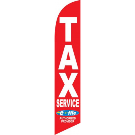 Tax service feather flag width=