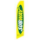 subway flag yellow half-sleeve