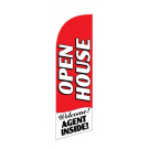 Open House Flag Kit Red Large-print With Pole And Spike Sre-9001
