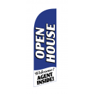 Open House Flag Kit Blue Large-print With Pole And Spike Sre-9000