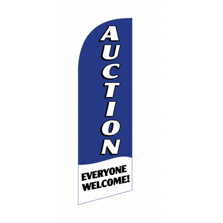 Auction Flag Kit Blue With Pole And Spike width=