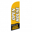 Open House Flag Kit Gold Large-print With Pole And Spike Sre-9037
