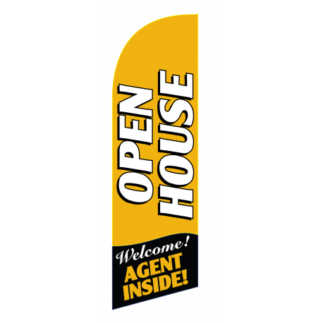 Open House Flag Kit Gold Large-print With Pole And Spike Sre-9037 width=