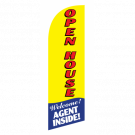 Open House Flag Kit Yellow With Pole And Spike Sre-9005