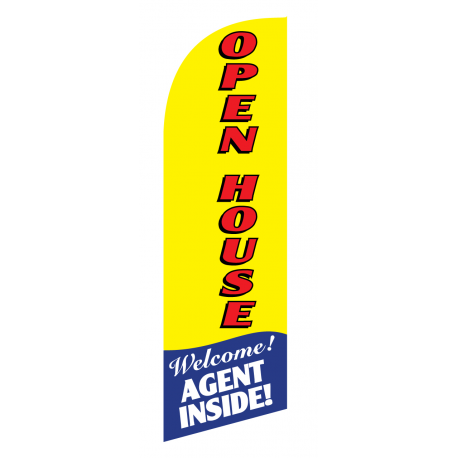 Open House Flag Kit Yellow With Pole And Spike Sre-9005 width=