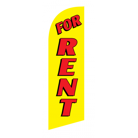 For Rent Flag Kit Yellow With Pole And Spike Sre-9017 width=