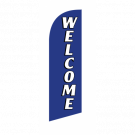 Welcome Flag Kit Blue With Pole And Spike Sre-9021