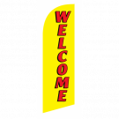 Welcome Flag Kit Yellow With Pole And Spike Sre-9023