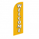 Welcome Flag Kit Gold With Pole And Spike Sre-9038