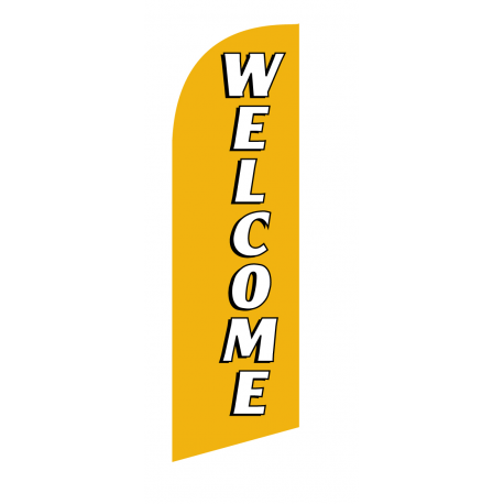 Welcome Flag Kit Gold With Pole And Spike Sre-9038 width=