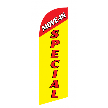 Move In Special Flag Kit Yellow With Pole And Spike Sre-9032 width=