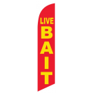 Live Bait Feather Flags Red & Yellow 12ft Poly Knit