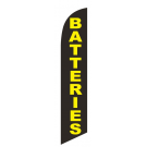 Batteries Feather Flag Black & Yellow 12ft Poly Knit