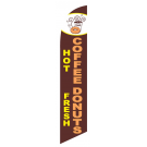 Hot Coffee Fresh Donuts Feather Flag Brown 12ft Poly Knit