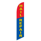 Hail Repair Feather Flag Blue & Red 12ft Poly Knit