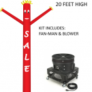 Fan Man Kit Red SALE 18ft high includes blower
