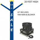 Fan Man Kit Blue SALE 18ft high includes blower