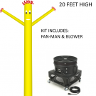 Yellow Wind-Wiggler Air Dancing Man - 20ft Kit Includes Blower