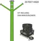 Dark Green Wind-Wiggler Air Dancing Man - 20ft Kit Includes Blower