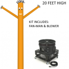 Orange Wind-Wiggler Air Dancing Man - 20ft Kit Includes Blower