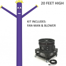 Purple Wind-Wiggler Air Dancing Man - 20ft Kit Includes Blower