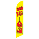 Red Tag Sale Feather Flag Yellow & Red 12ft Poly Knit