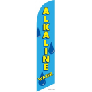 Alkaline Water Feather Flag Blue 12ft Poly Knit