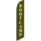 Boot Camp Feather Flag Green 12ft Poly Knit