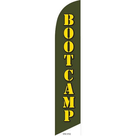 Boot Camp Feather Flag Green 12ft Poly Knit width=