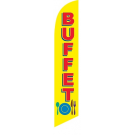 Buffet Feather Flag Yellow 12ft Poly Knit