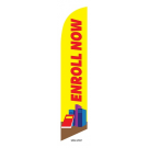 Enroll Now Feather Flag Yellow & Red 12ft Poly Knit