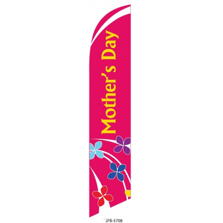 Mothers Day Feather Flag Pink 12ft Poly Knit width=