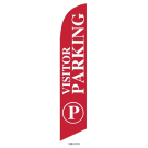 Visitor Parking Feather Flag Red 12ft Poly Knit