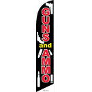 Guns & Ammo Feather Flag Black &Red 12ft Poly Knit