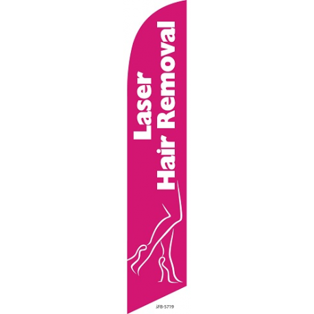 laser hair removal feather flag width=