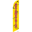 Optometrist Feather Flag Yellow 12ft Poly Knit
