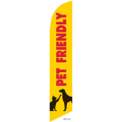 Pet Friendly Feather Flag Yellow 12ft Poly Knit