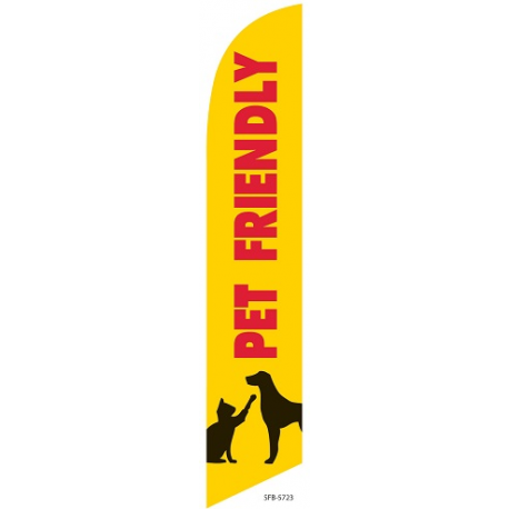 Pet Friendly Feather Flag Yellow 12ft Poly Knit width=