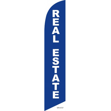 real estate feather flag width=