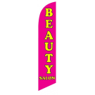 Beauty Salon Feather Flag Pink 12ft Poly Knit