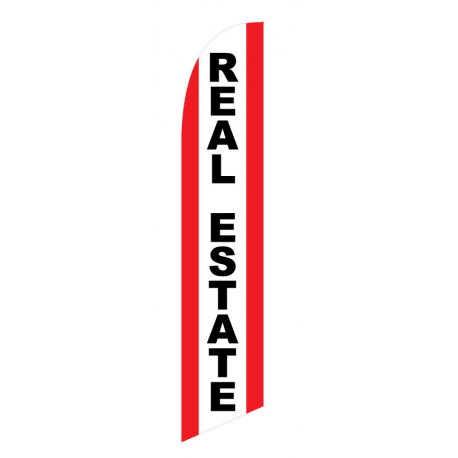 custom REAL ESTATE nsfb-style Feather Flag width=