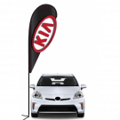 KIA 3D Double-sided Teardrop Flag Kit #969