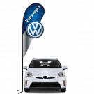 Volkswagon 3D Double-sided Teardrop Flag Kit #969