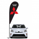 Mitsubishi 3D Double-sided Teardrop Flag Kit #969