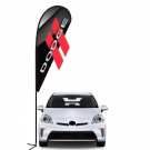 Dodge 3D Double-sided Teardrop Flag Kit #969