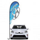 Hyundai 3D Double-sided Teardrop Flag Kit #969